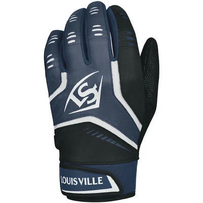 Louisville Slugger Adult Omaha Batting Gloves - Navy Blue