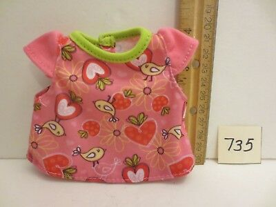 Hasbro Baby Alive Strawberry Bird Shirt Top for All Gone Strawberry Doll