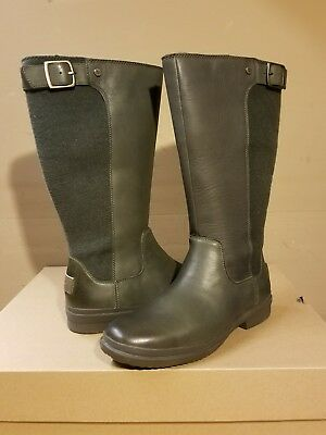 2605288d03a UGG AUSTRALIA JANINA slate leather waterproof boots size 7US