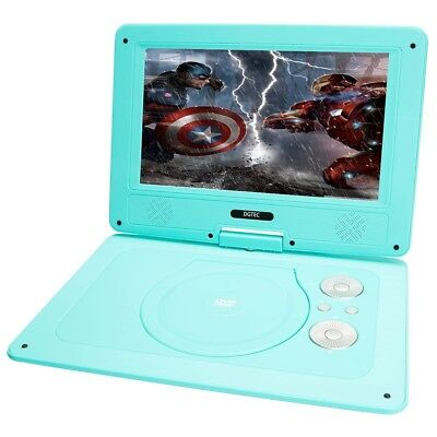 Brand New Dgtec 10.1Inch Portable Dvd Player Swivel Screen Usb Input Blue
