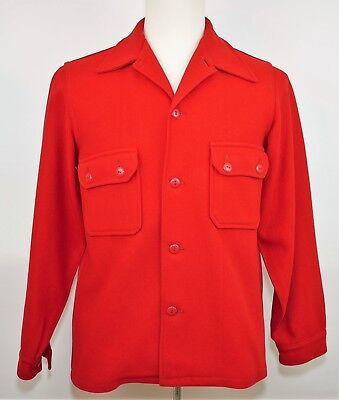 Vintage BOY SCOUTS OF AMERICA OFFICIAL RED WOOL COAT JACKET - Men's Small