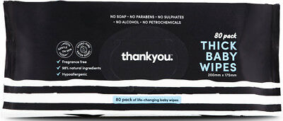 Thankyou Thick Baby Wipes - 80 Pack