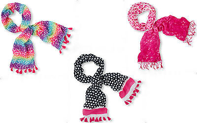"""The Children's Place Youth - Girls Rainbow Leopard Scarf With Fringe 55""""x16"""" NWT"""