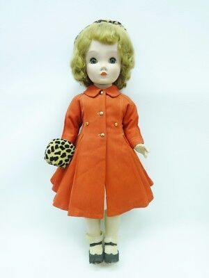 "Vintage 1950's  Madame Alexander 24 "" Binnie Walker Doll Red Coat Leopard Hat"