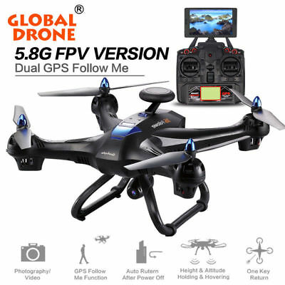 DUAL GPS Global X183 5.8G WiFi FPV 1080P HD Camera Brushless Quadcopter VR Drone