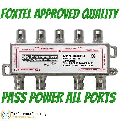 tv antenna splitter 8 way industry standard quality f type quality foxtel