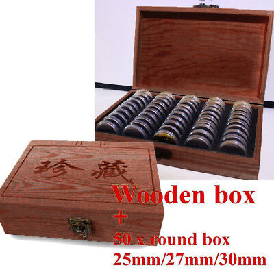 HOT Round Coins Display Storage Box Useful for Slab Certified Container Capsules