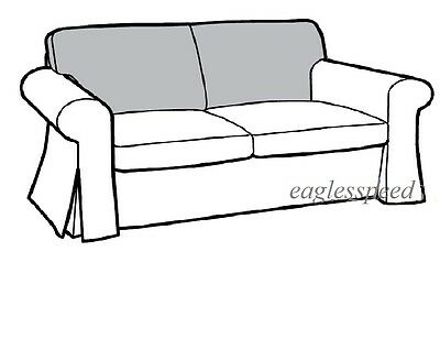 IKEA Ektorp Loveseat Back Cushion Slipcover Svanby Beige 2 Seat Sofa Arm Cover