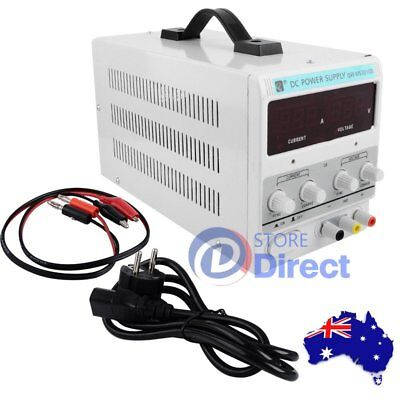 DC Power Supply - 30V 10A Precision Variable Digital Lab Adjustable with Cable