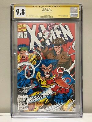 X-Men (1991) #4 Cgc Ss 9.8 Nm! First Appearance Of Omega Red! Signed By Jim Lee!