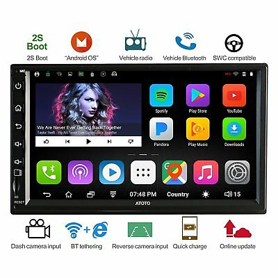 [NEW] ATOTO A6 2DIN Android Car GPS Stereo Radio /2A Charge /A62711PB /Bluetooth