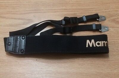 Genuine Mamiya Shoulder / Neck Strap  Gold Lettering Metal Hooks
