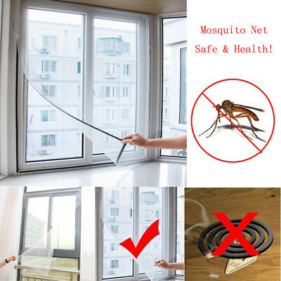 1X Insect Screen Window Netting Kit Fly Bug Wasp Mosquito Curtain Mesh Net Cover