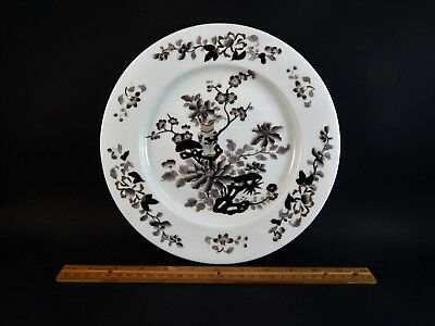 Antique Chamberlain Worcester Grisaille Chinese Style Plate 49 Available C. 1820