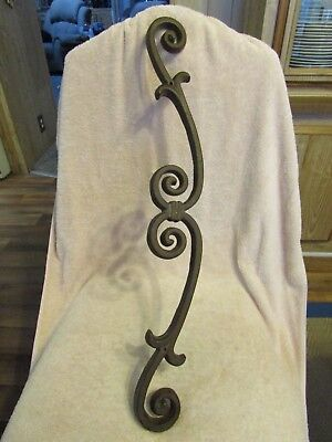 Vintage Cast Iron Mounted Gate / Door / Ranch Fence Decor Massive