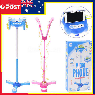 Stand Music Educational Microphone Musical Voice Toy Sound Light Kid Gift