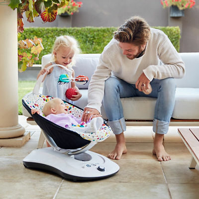 4moms rockaRoo Baby Rocker Bouncer Infant Swing Multi Plush (Phone/MP3 Connect)