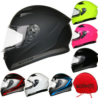LEOPARD Full Face Motorcycle Motorbike Helmet On Road Crash Visor Optional 2018