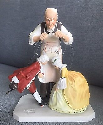 Norman Rockwell The Puppet Maker Figurine, Gorham 1985, Great Condition