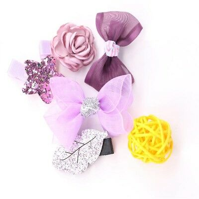 Hair Clips Kids Cartoon Mushroom Flowers Bowknot Hairpins Barrette for Girls