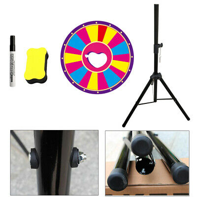 "24"" Color Fortune Prize Wheel Folding Tripod Floor Stand  Lottery Spinning Game"