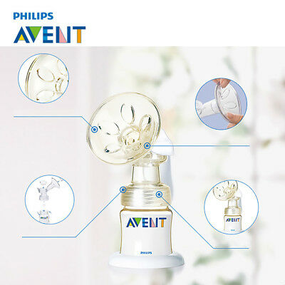 NEW! PHILIPS AVENT SCF300/88 Silicone Baby Manual Natural Breast Pump BPA FREE