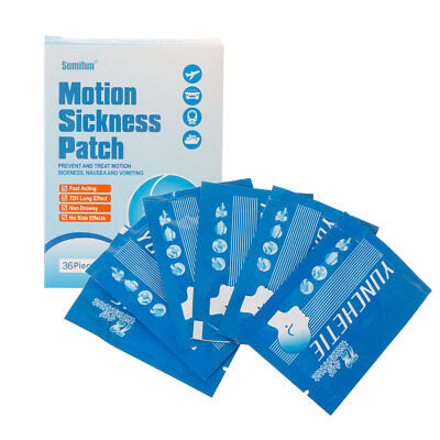 36Pcs Anti Motion Sickness Patch Behind Ear Chinese Herbal Health Care Plaster
