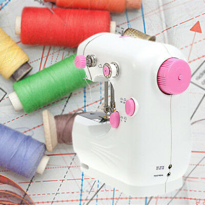 220V Portable Mini Multifunction Electric Sewing Machine Handwork Home US Plug