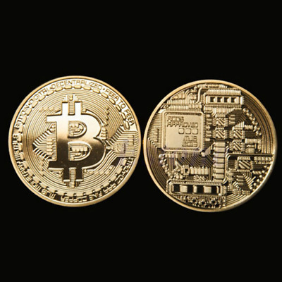 Coin Bitcoin Physical Gold Plated Btc Collection Gift Collectible Art Bit Commem