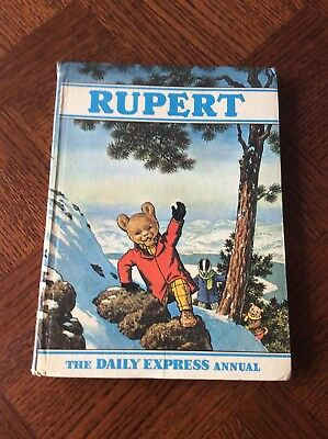 Vintage 1970 Rupert The Bear Daily Express Annual, Unclipped, Children's Book
