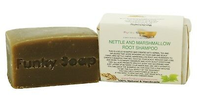 1 piece Nettle and Marshmallow Root Shampoo Bar 100% Natural Handmade 120g
