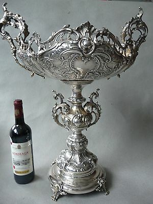 Silverplated, goldplated Roccoco vase (60cm / 24 inch high)