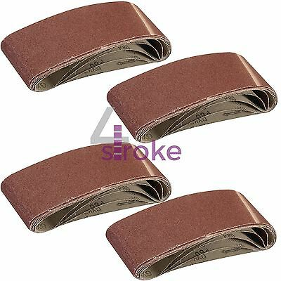 Sanding Belts 75mm x 533mm Mixed Grade 40 60 80 120 Grit Sander