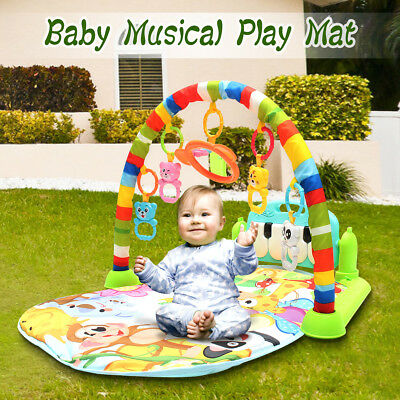 3in 1 Baby Lullaby Kid Soft Playmat Piano Musical Sleep Activity Fitness Gym Mat