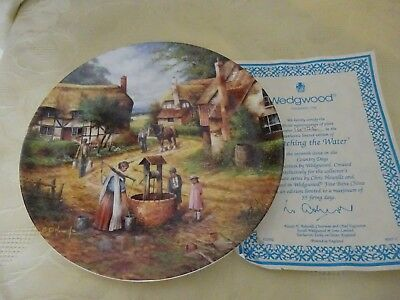 Wedgwood China Collectors Plate Country days Series  Fetching the Water
