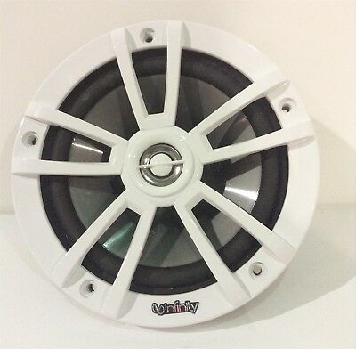 Infinity Marine Speaker 6.5 Water Resistant Cracked White/Silver INF622MW