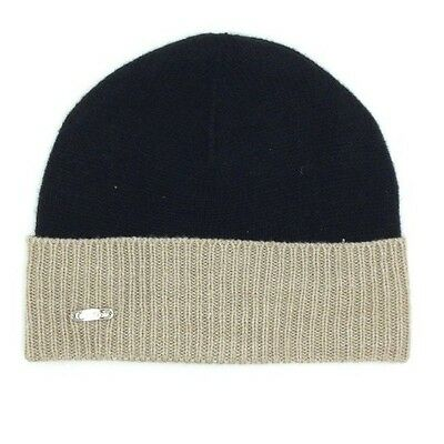 91928e00452  99 Calvin Klein Mens Unisex Black Ribbed Cuffed Hat Winter Warm Beanie  Logo O s