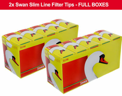 20 Packs x 165 Swan Slim line Filter Tips Slimline 3300 Loose Full Box