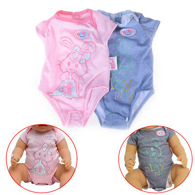 Doll Clothes For 43cm Zapf Baby Born Doll Jumpsuit Suit Doll Accessories Gifts >