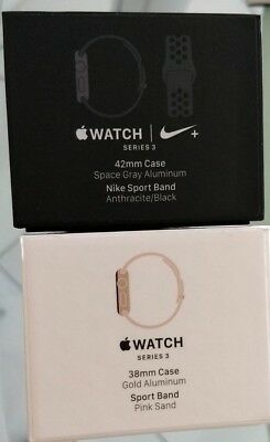 2 X Apple Watch Series 2/3 38mm/42mm BOX ONLY  Gold and Space Gray FREE SHIPPING