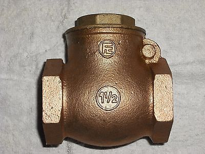 "11/2 "" Bsp Bronze Swing Check Valve  Rubber Faced Pn16"