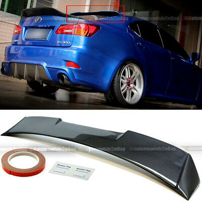 For 14-19 IS250 IS350 IS200t IS300 Glossy Black V2 Rear Window Roof Wing Spoiler