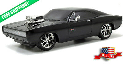 Fast And Furious 7.5 RC Doms 1970 Black Dodge Charger Radio Control Car New