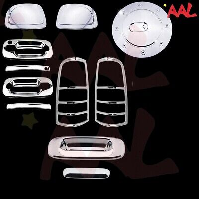 AAL 14-17 For Chevy Silverado Mirror+2Drs+Tailgate+Taillights+Gas Chrome Covers