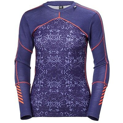 Helly Hansen Women's Lifa Merino L/S Crew Neck Top - Lavender
