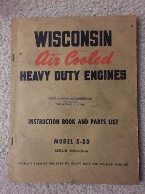 Vintage Wisconsin Model S-8D Air Cooled Engine Ipl Brochure