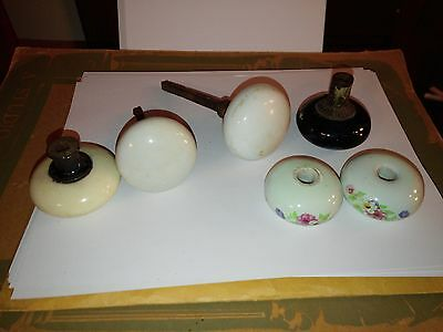 Vintage Door Knobs, Mixed Lot Of 6