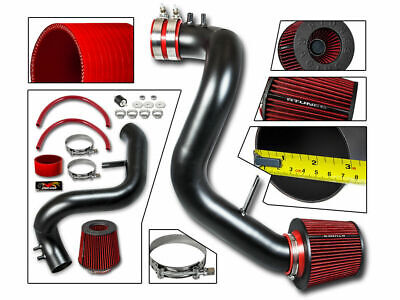 Cold Air Intake Kit MATT BLACK +RED Filter For 11-14 Sonata /Optima 2.4L NA ONLY