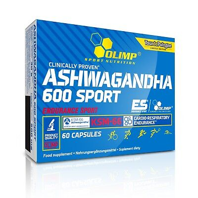 OLIMP Ashwagandha 600 Sport 60 Capsules ROOT EXTRACT, ENDURANCE ENERGY RECOVERY