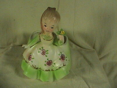 Vintage Velco Lady Holding Rose Planter Los Angeles California Pottery #4539
